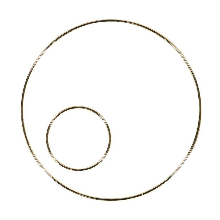 Uniti Macrame Hoop Set Gold, , hi-res