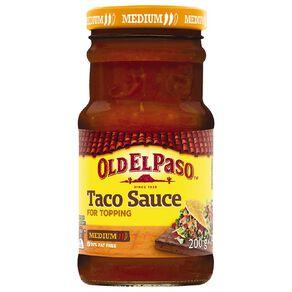 Old El Paso Taco Sauce Medium 200g