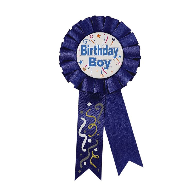 Party Inc Birthday Badge 15cm Blue, , hi-res image number null