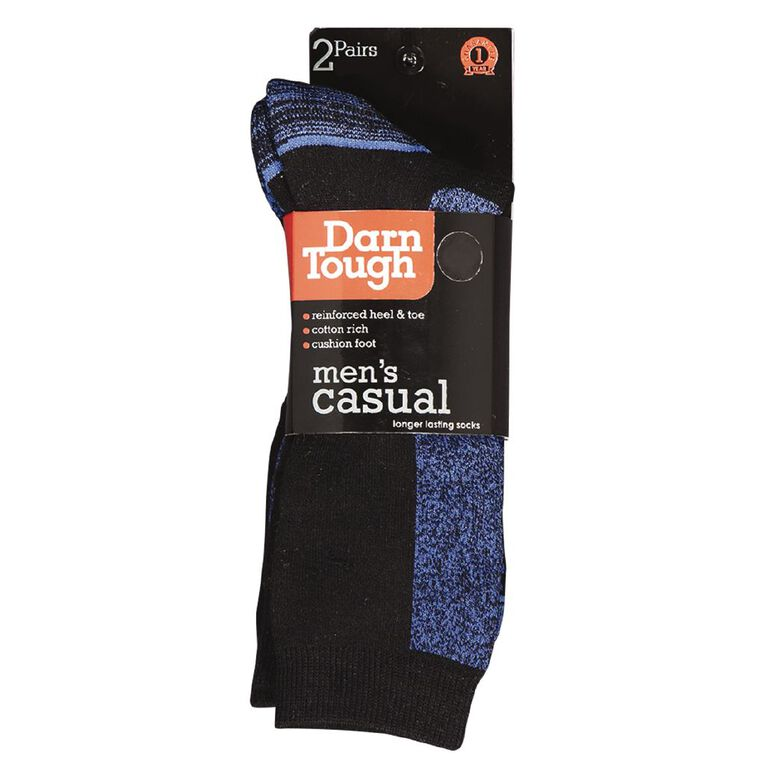 Darn Tough Men's Utility Crew Socks 2 Pack, Cobalt, hi-res image number null