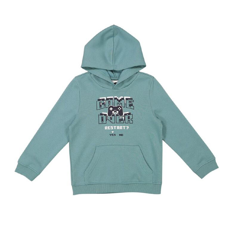 Young Original Pull Over Print Hoodie Sweat, Turquoise, hi-res