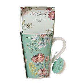 Floral Green Mug & Cocoa Mix 28g