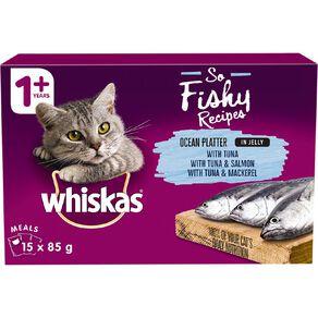 Whiskas Wet Cat Food Ocean Platter In Jelly 15x85g Box