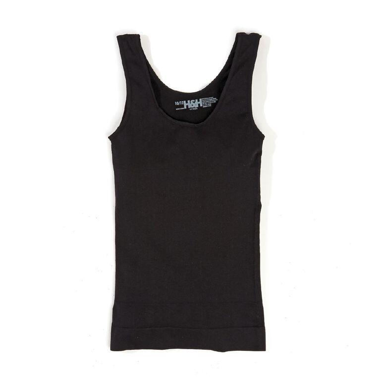 H&H Women's Shapewear Scoop Vest, Black, hi-res