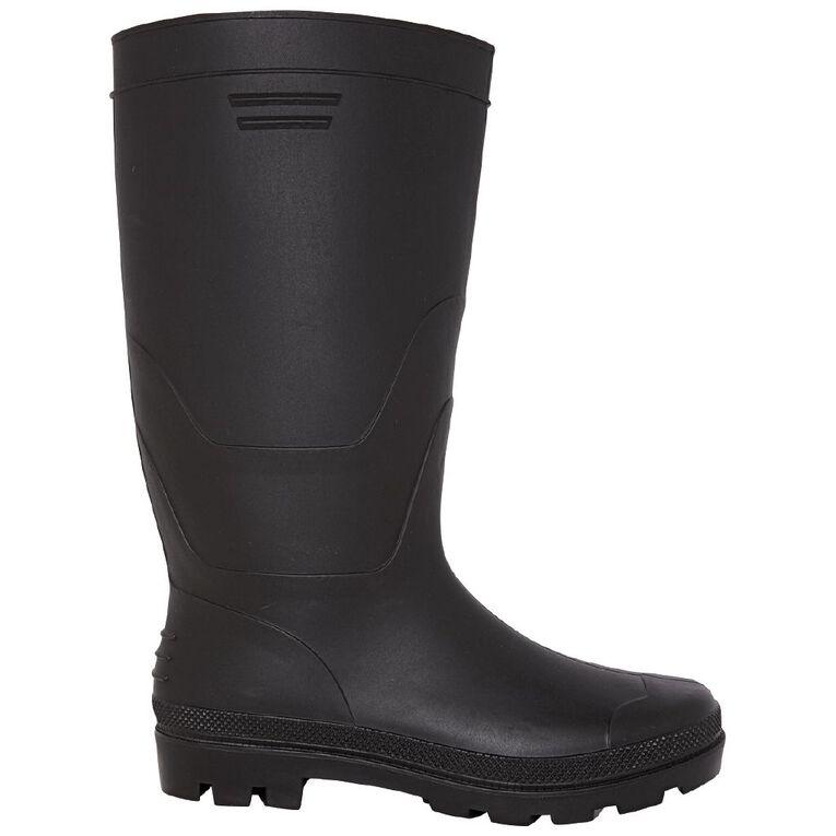 H&H Men's Workman Gumboots, Black, hi-res