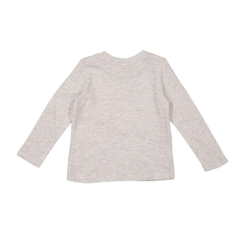 Young Original Toddler Long Sleeve Applique Tee, Grey Light, hi-res