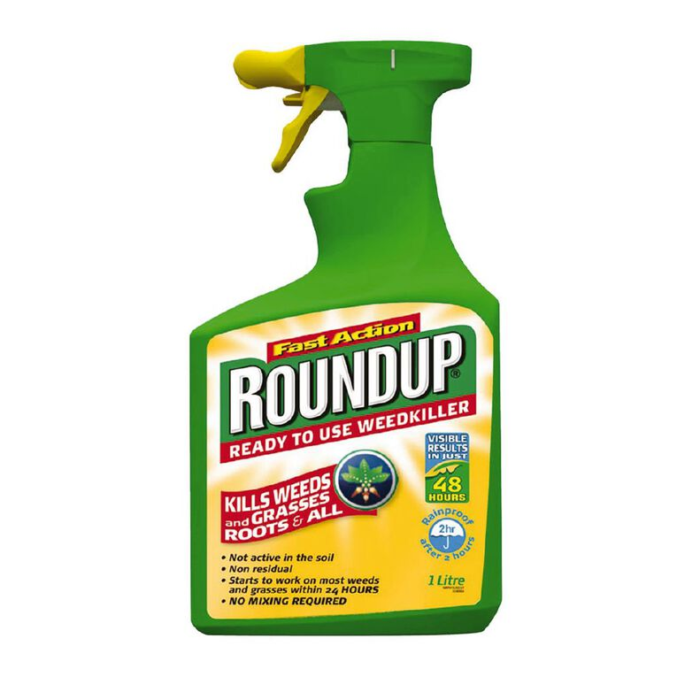 Roundup Fast Action Ready to Use Weedkiller 1L, , hi-res