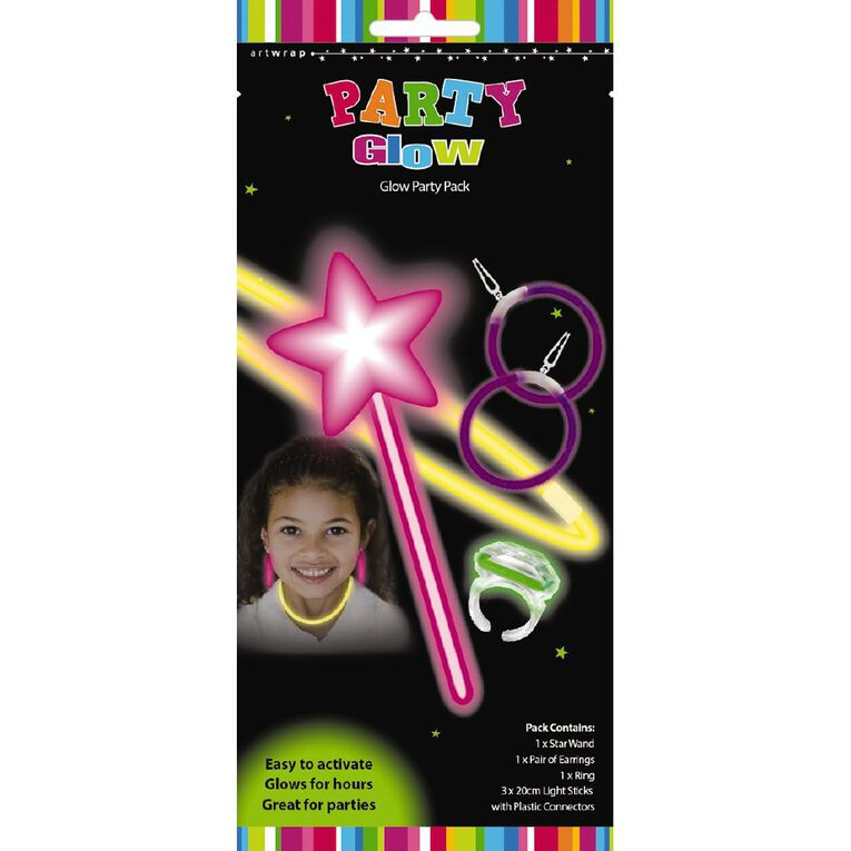 Artwrap Glow Party Pack Girl 5 Piece, , hi-res