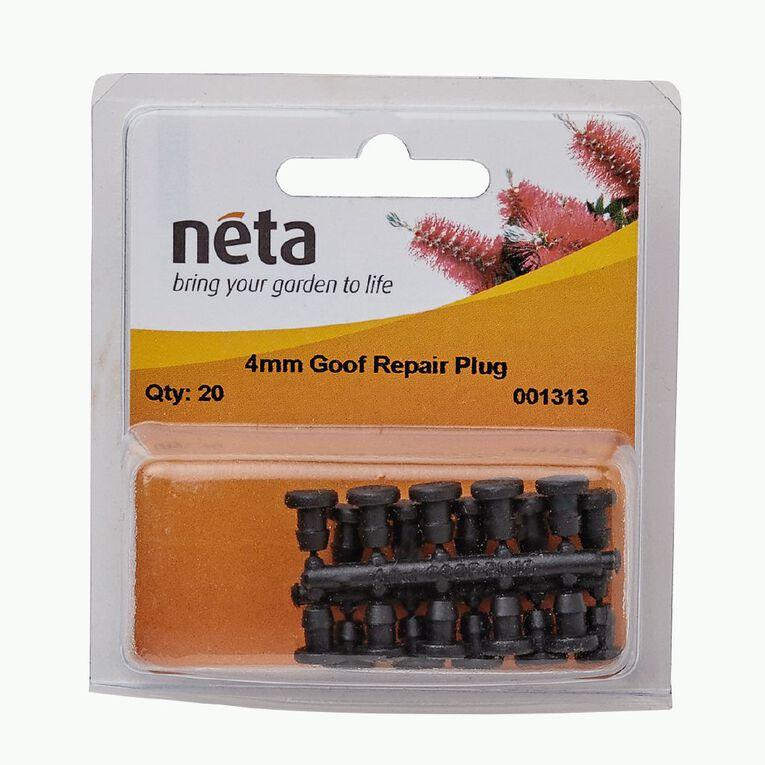 Neta Micro Irrigation Goof Repair Plugs 20 pack 4mm, , hi-res