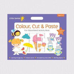 Little Genius Colour Cut & Paste Mega Pad