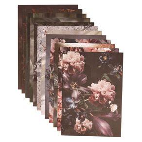 Uniti Floral Nights Paper Pad A4 12 Sheets