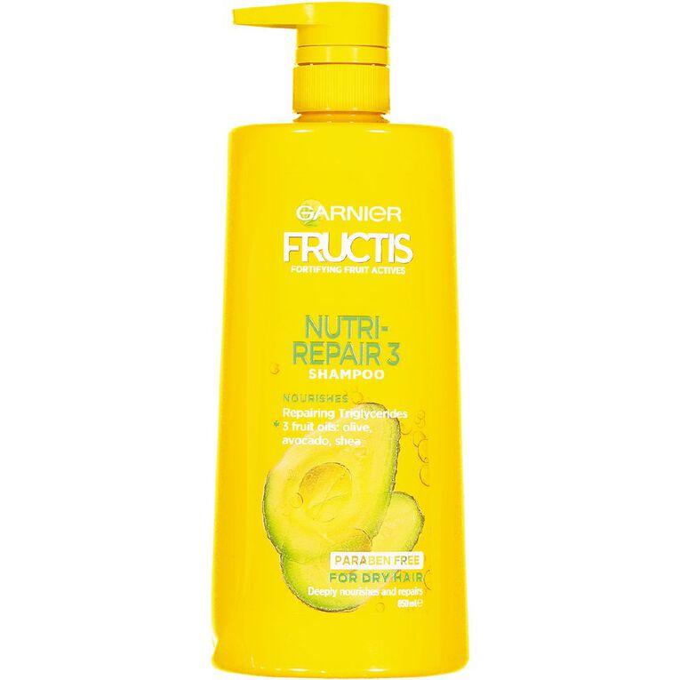 Garnier Fructis Nutri-Repair 3 Shampoo 850ml, , hi-res