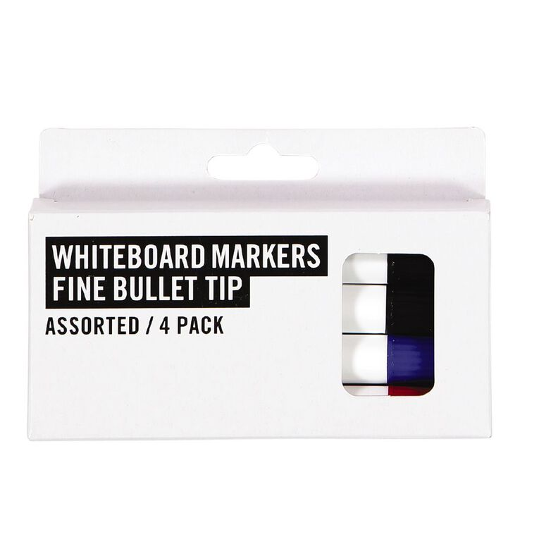 Deskwise Whiteboard Markers Assorted 4 Pack, Assorted, hi-res