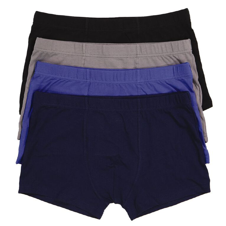 H&H Boys' TE Trunks 4 Pack, Multi-Coloured, hi-res image number null
