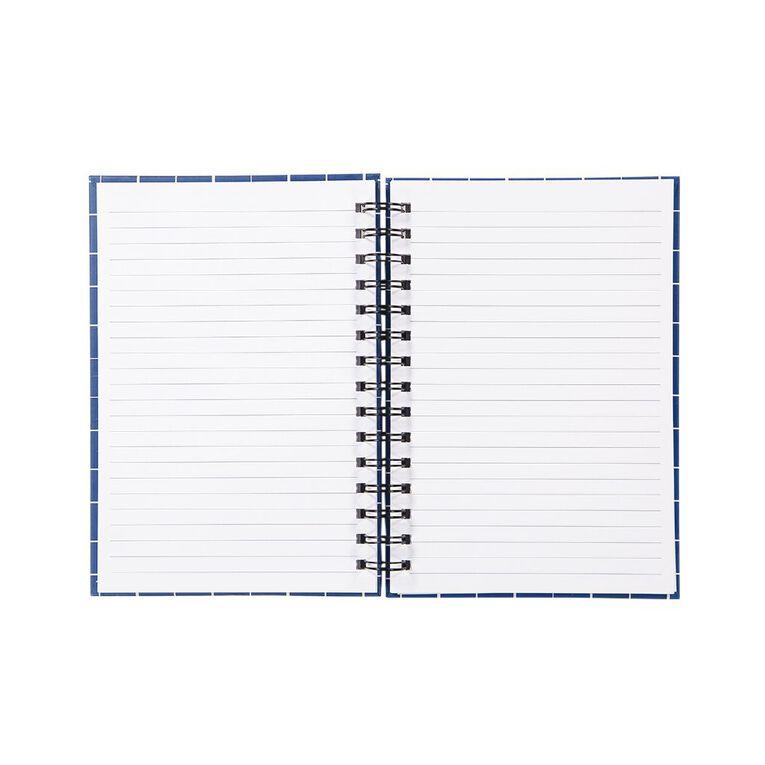 Uniti Geo Notebook Spiral Blue A5, , hi-res