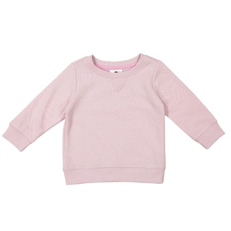 Young Original Baby Plain Sweatshirt, Pink Mid, hi-res