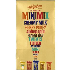 Whittaker's Boxed Assorted Mini Slabs 15 Piece 225g