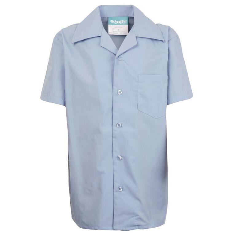 Schooltex Short Sleeve School Shirt, Blue, hi-res