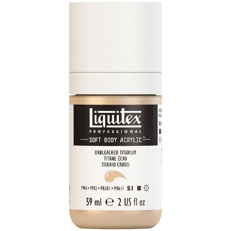 Liquitex Soft Body Acrylic 59ml Unbleached Titan S1, , hi-res