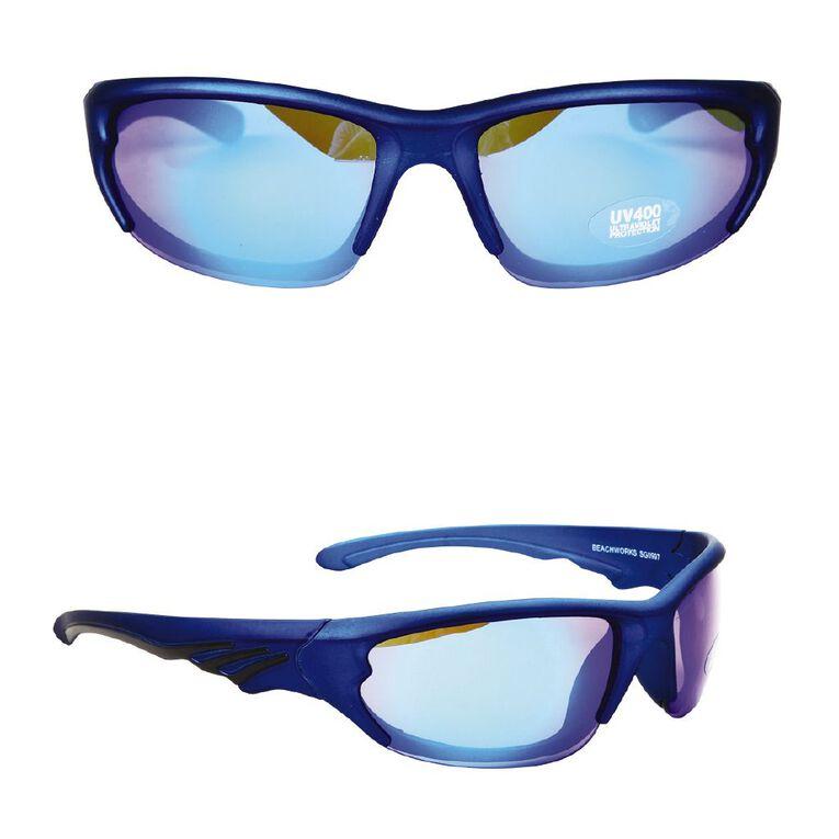 Beach Works Men's Half Eye Sunglasses, Blue, hi-res