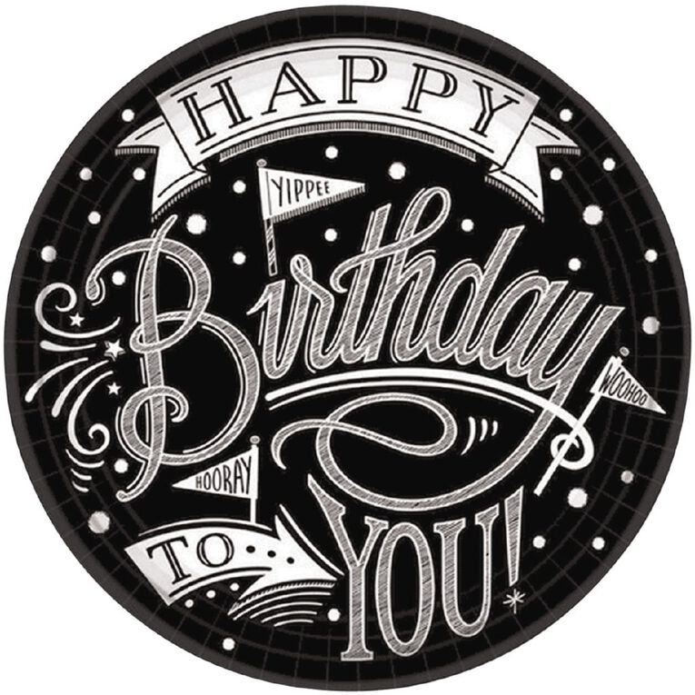 Amscan Hooray Its Your Birthday Round Plates 17cm 18 Pack, , hi-res