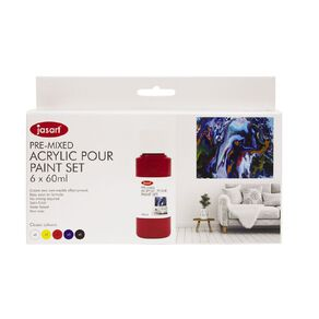 Jasart Acrylic Pour Paint 60ml Set 6