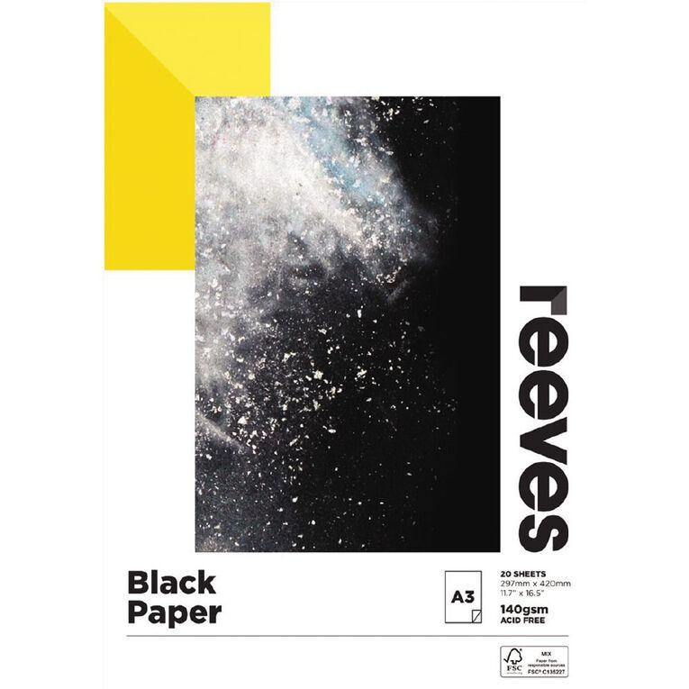 Reeves Sketch Pad 140gsm Black A3, , hi-res