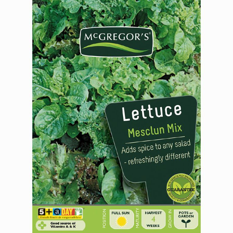 McGregor's Mixed Mesclun Lettuce Vegetable Seeds, , hi-res