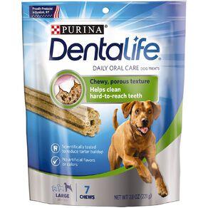Purina Dentalife Dog Dental Snacks Large 221g