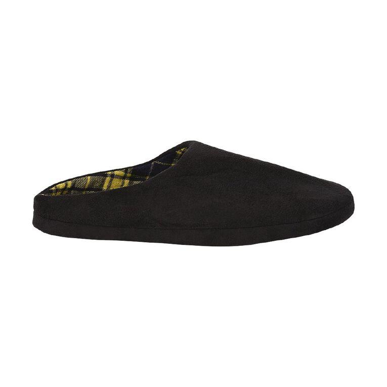 H&H Robert Scuff Slippers, Black/Yellow, hi-res