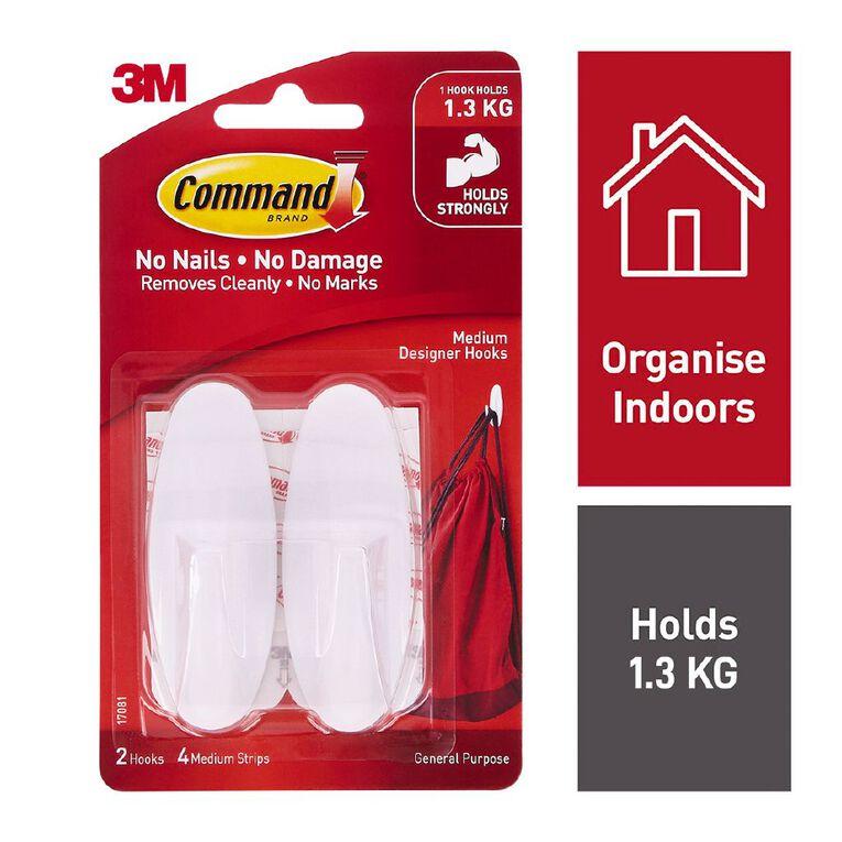 Command Designer Hook White Medium, , hi-res