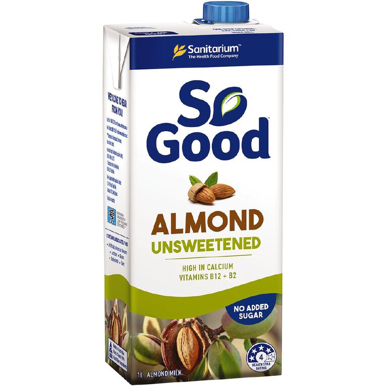 Sanitarium So Good Almond Milk Unsweetened 1L, , hi-res