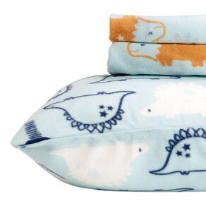 Living & Co Kids Sheet Set Polar Flannel Dino Multi-Coloured