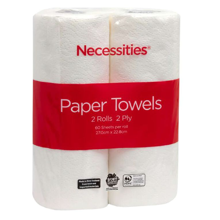 Necessities Brand Paper Towel Tall 2 Pack, , hi-res