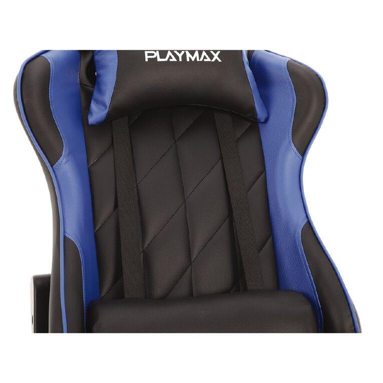 Playmax Elite Gaming Chair Blue & Black, , hi-res