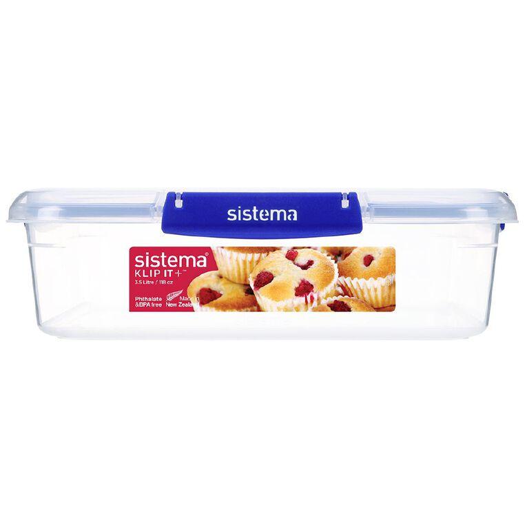 Sistema Klip It Plus Square Container Assorted 3.5L, , hi-res