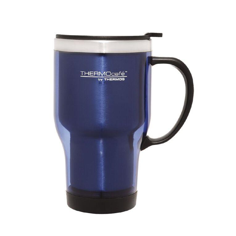 Thermos Travel Mug With Handle Blue 450ml, , hi-res