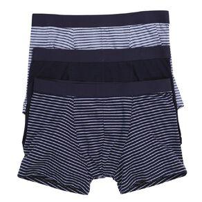 H&H Men's Stripe Trunks 3 Pack