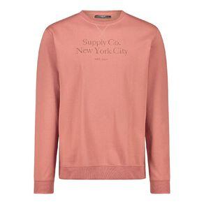 H&H Men's Embroidered Crew Sweatshirt