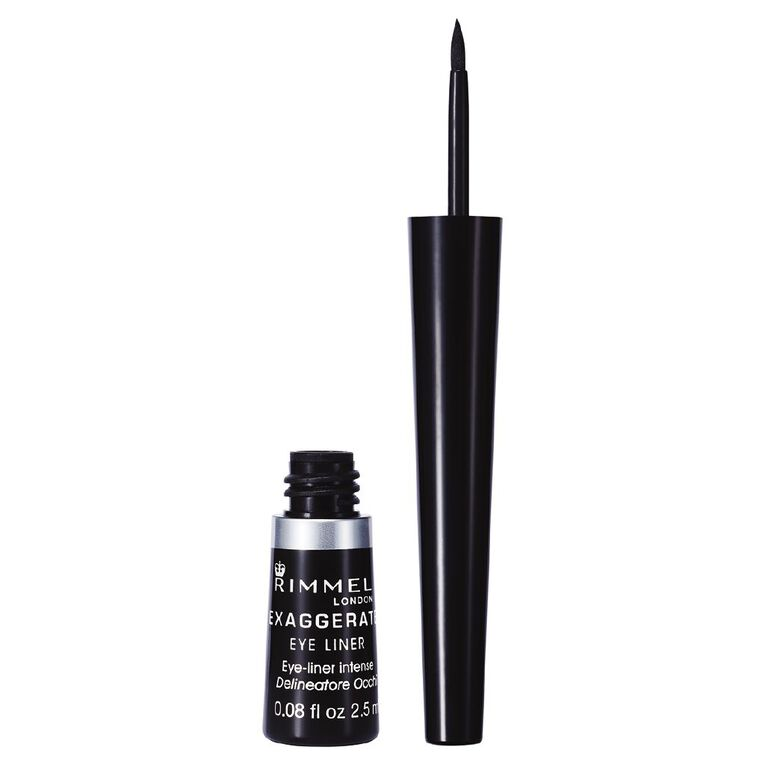 Rimmel Exaggerate Liquid Eyeliner 100% Black, , hi-res