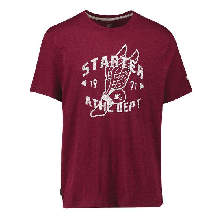 Starter Men's Graphic Tee, Maroon/Black, hi-res