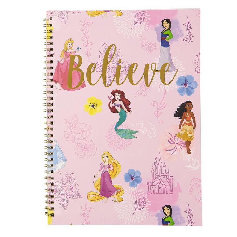 Disney Princess Spiral Notebook Believe Pink A4, , hi-res