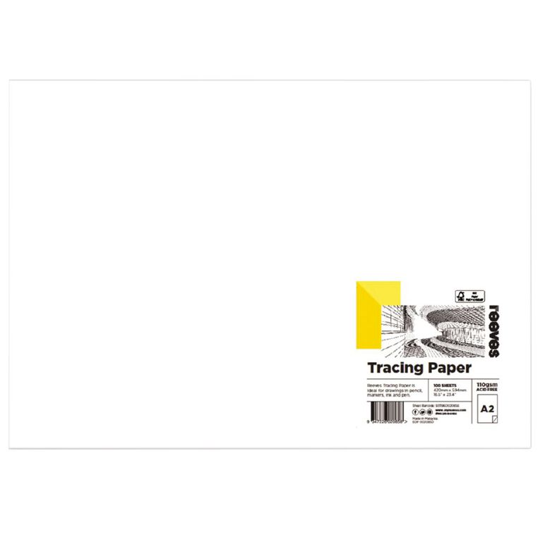 Reeves Tracing Paper 110gsm A2 Single Sheet, , hi-res