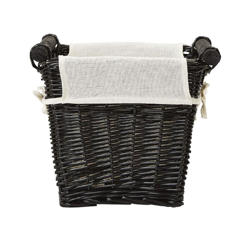 Living & Co Rectangle Wicker Basket Natural Small, , hi-res