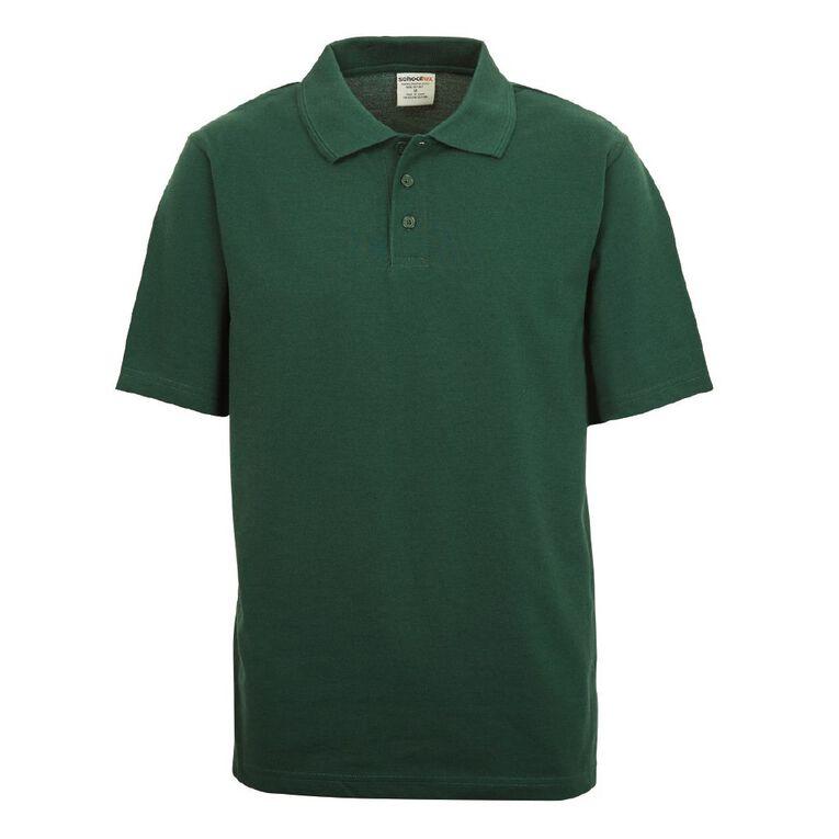 Schooltex Adults' Pique Polo, Bottle Green, hi-res