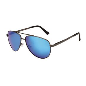 H&H Essentials Blue Mirrored Aviator Sunglasses