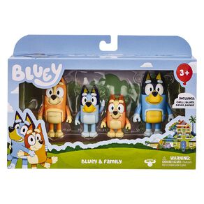 Bluey Figure 4 Pack Series 4 Assorted