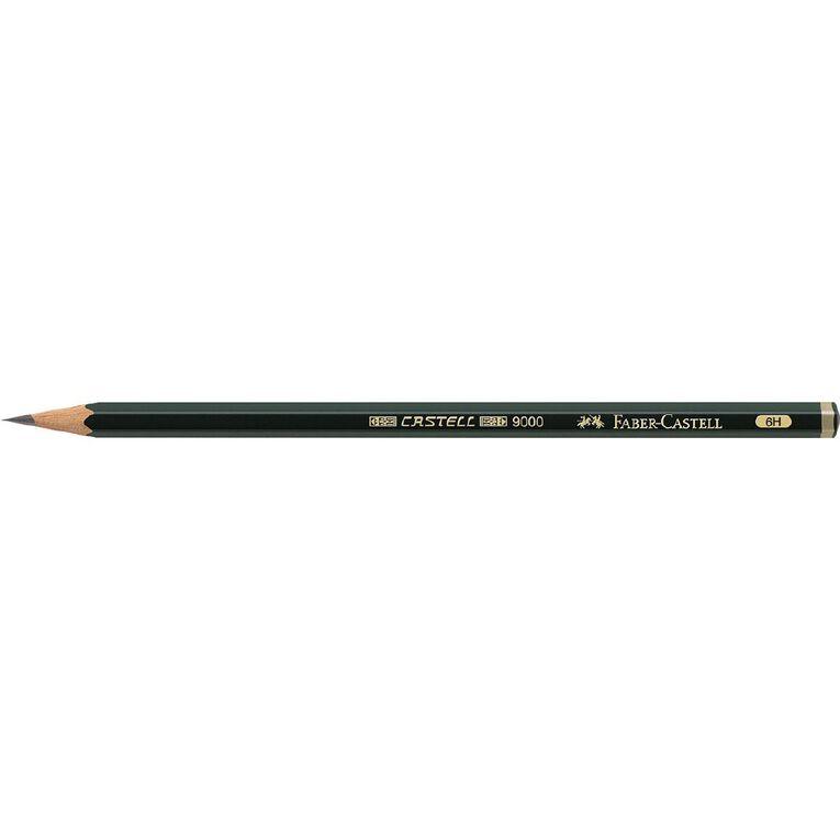 Faber-Castell Artist Pencil 9000 6H Black, , hi-res