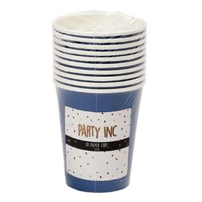 Party Inc Paper Cups 260ml Royal Blue 10 Pack