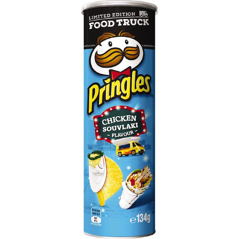 Pringles Chicken Souvlaki 134g, , hi-res